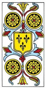 Tarot de Marseille Grimaud first edition 1930 IV Pentacles