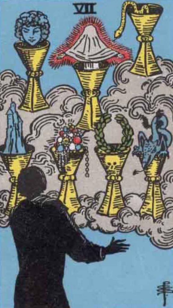 Waite Tarot VII Cups