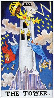 Waite Tarot XVI THE TOWER