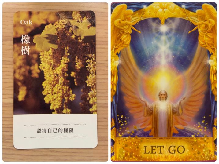 2021060704 Oak & LET GO Angel Answers Oracle Cards Divination by Luc