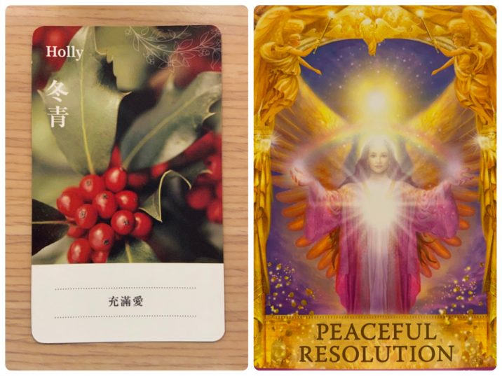 2021092003 Holly & PEACEFUL RESOLUTION Angel Answers Oracle Cards Divination by Luc