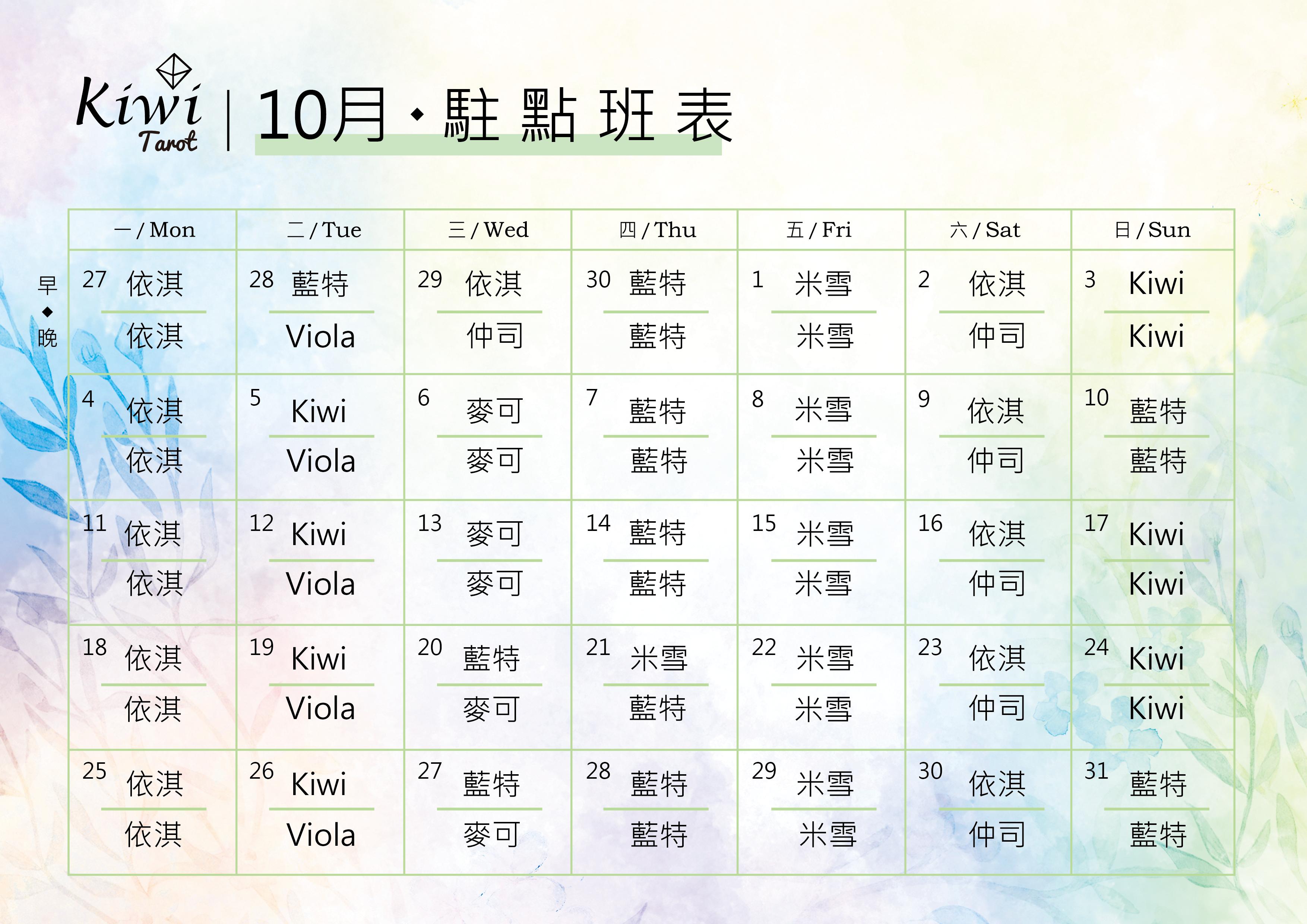 20211001 Taipei Tarot Zhongxiao Fuxing Tarot Daan Tarot Kiwi Tarot